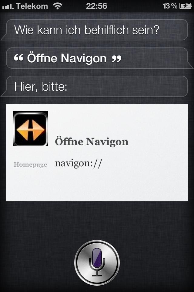Mit Siri Apps öffnen