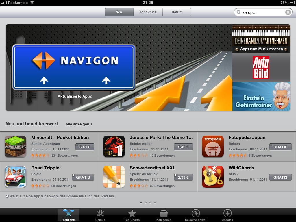 iPad App Store Verbesserung