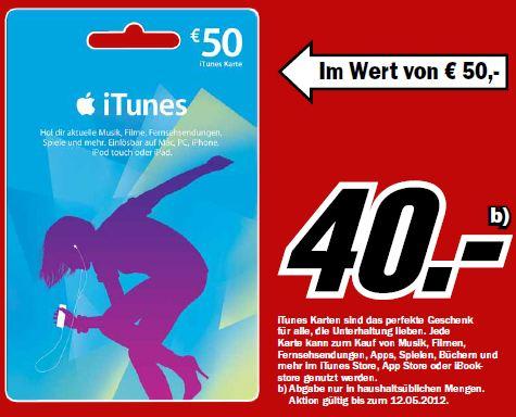 Media Markt iTunes Gutschein