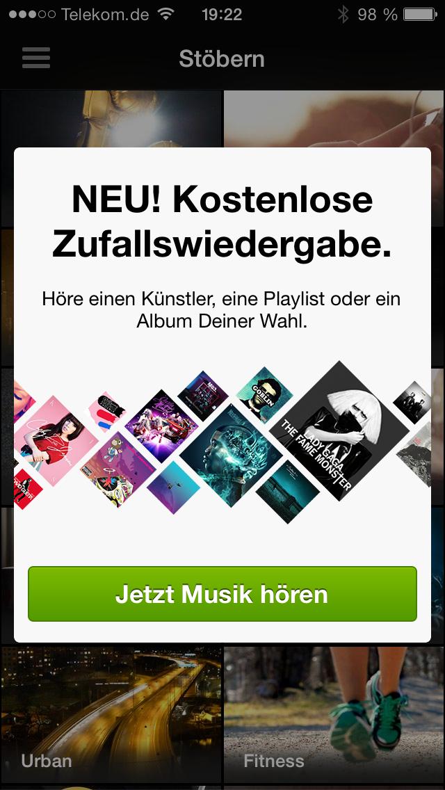 Spotify kostenlos