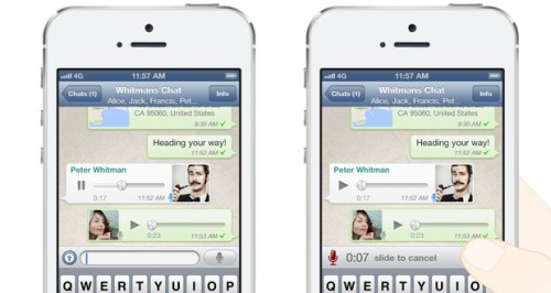 Sprachnachrichten Whatsapp