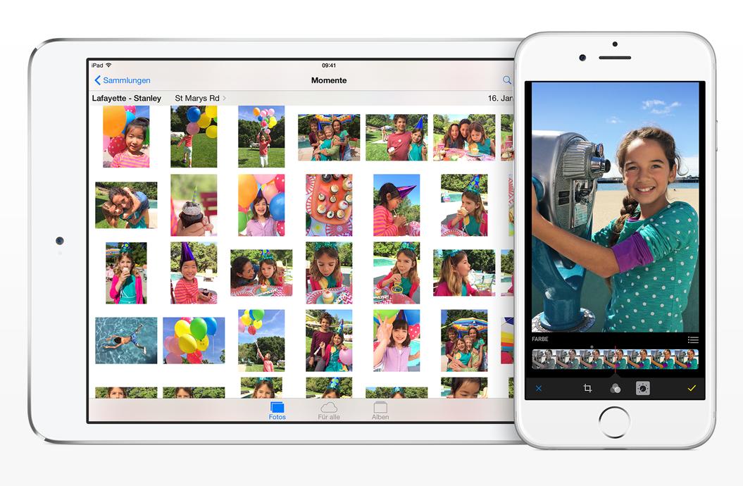 iOS 8 on iOS Device