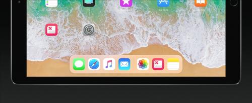 iPad Pro iOS 11 Dock